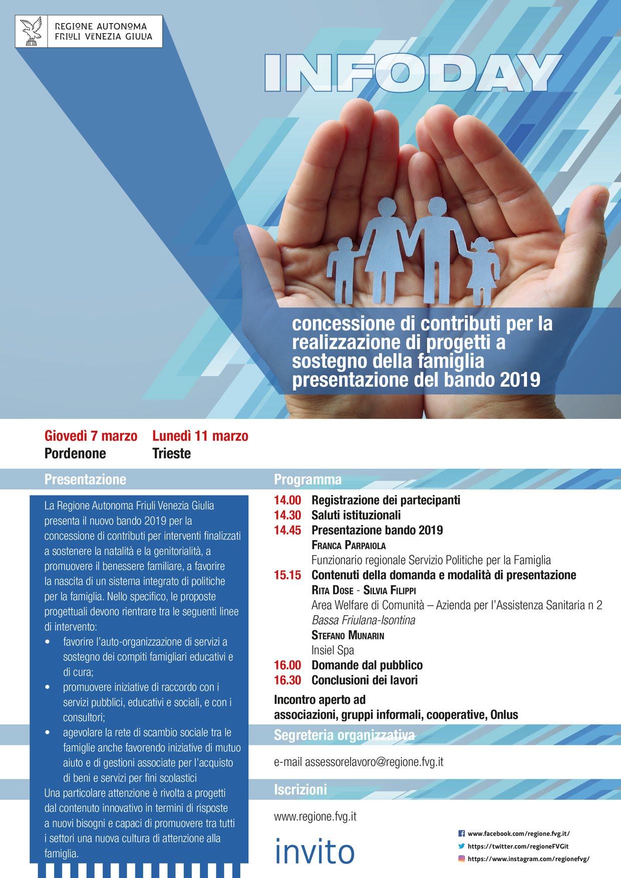 Programma infoday 2019